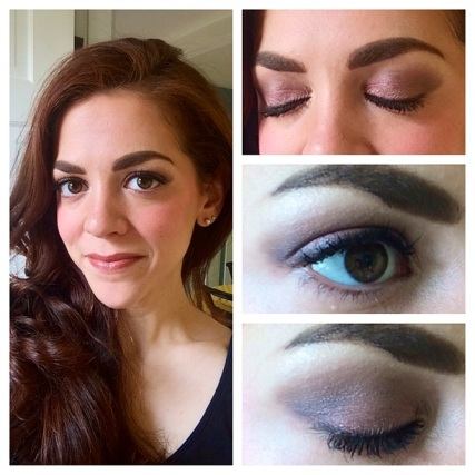 Soft, neutral-purple eye using #UrbanDecay #Naked3 palette and #BiteBeauty Luminous Créme Lipstick in Pepper.