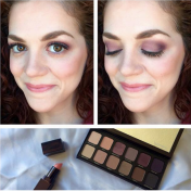 @lauramercier Eye Artist Eyeshadow Palette and Creme Smooth Lip Colour in #AntiquePink.