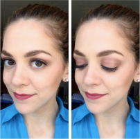 Rockin' that dark, mulberry lip for Spring again. Loving this trend! -Bite Beauty Luminous Creme Lipstick in Mulberry - Urban Decay Cosmetics Naked3 palette