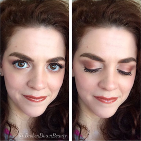 Rose Gold look using Naked 3 palette