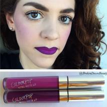 Purple ombré lips
